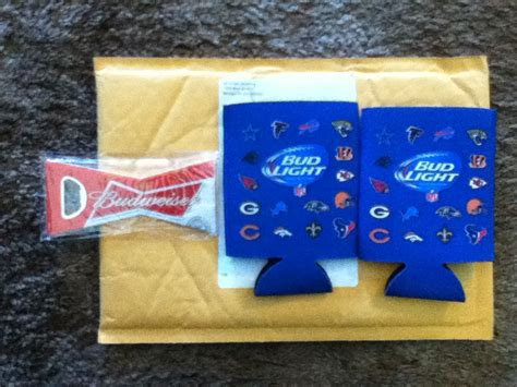 Bud Light Sweepstakes 2014 - winner in the ab tailgate sweepstakes won 2 bud light can koozies and a budweiser