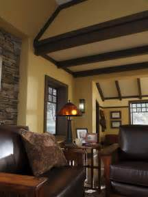 Craftsman Style Homes Interior Design A Craftsman Living Room Hgtv