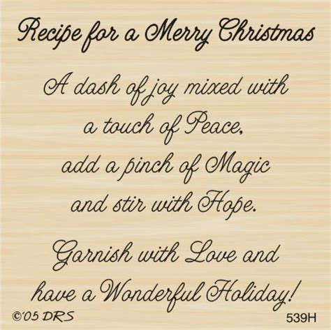merry christmas recipe greeting rubber stamp  drs designs christmas poems christmas card