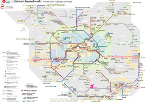 trains germany map travel germany map