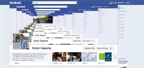 design cover for facebook timeline 40 creative exles of facebook timeline designs