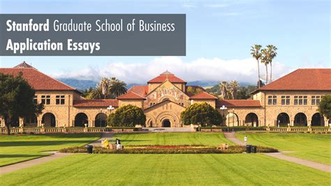Stanford Mba Internships by Stanford Essay 1 What Matters Most To You And Why