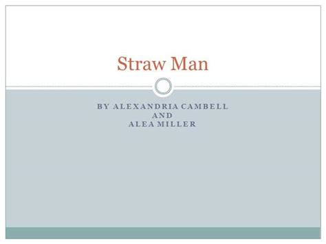 straw man authorstream