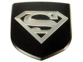 Dodge Charger Emblems Custom New Dodge Charger Custom Front Emblem Black Superman Ebay