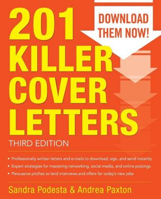 201 killer cover letters 201 killer cover letters third edition edition 3 by