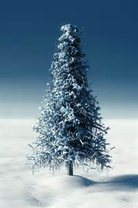 create a snowy tree in blender