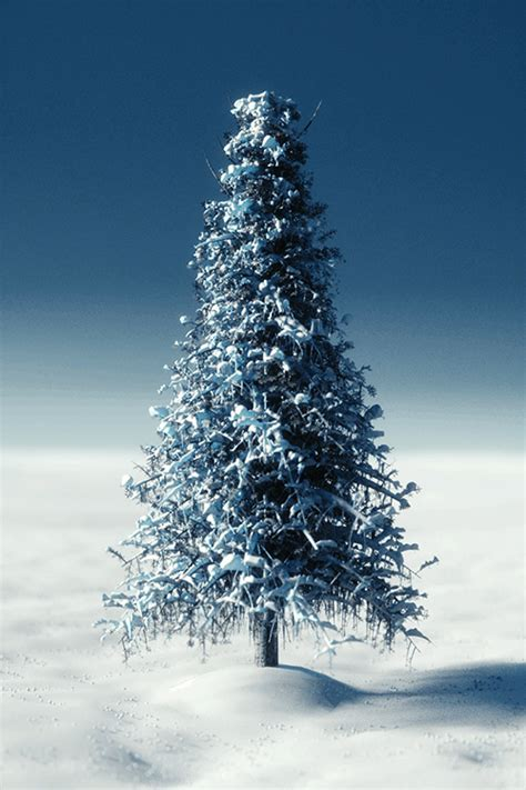 create a snowy tree in blender