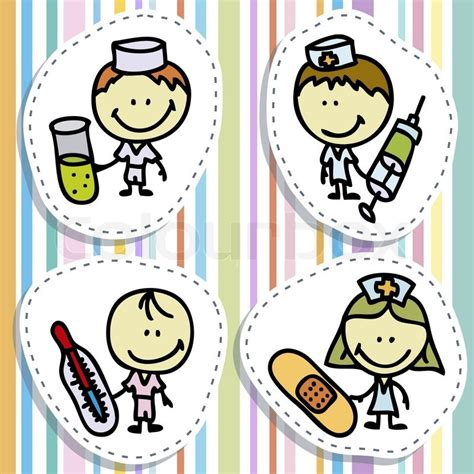 doctor who doodle how to play icon set of doodle happy doctor children with