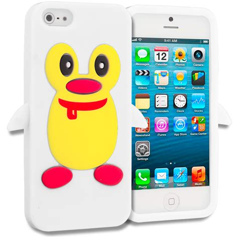 Silicon Sincan For Iphone 5 penguin silicone color rubber skin cover for