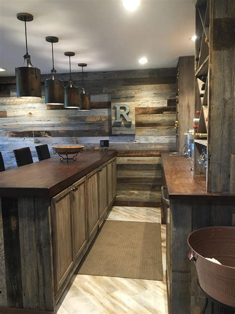 transformation turned   rustic man cave
