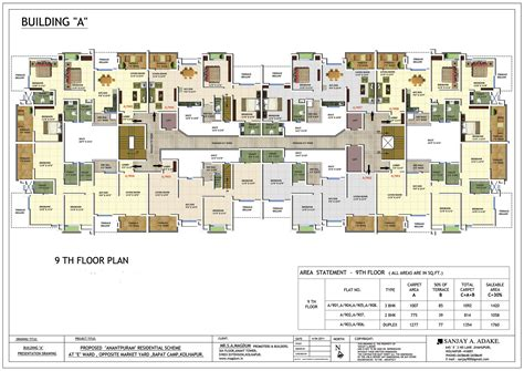 Floor Plans For 3 Bedroom Flats 2 3 4 Bhk Flats Pent House In Bapat Camp Kolhapur