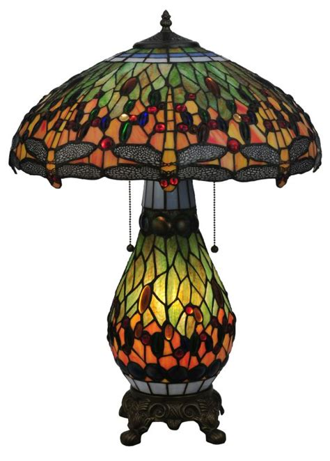 tiffany table ls best prices meyda 118845 25 in h tiffany hanginghead dragonfly lighted