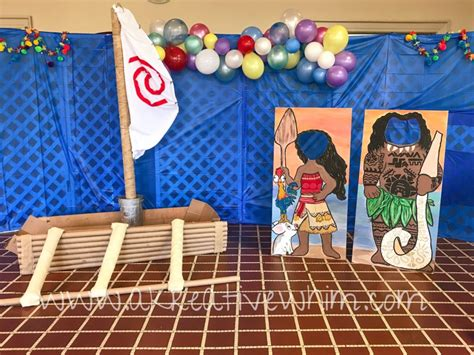 moana boat decoration build moana s boat diy party decor and photo prop a