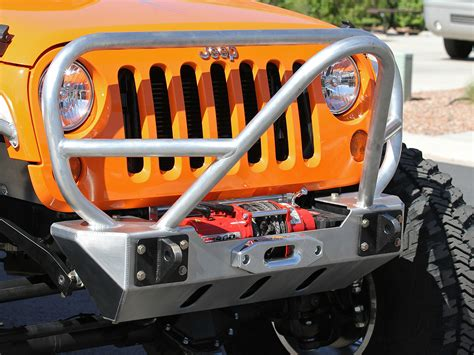 jeep jk stinger bumper jk stinger grill guard front bumper aluminum genright