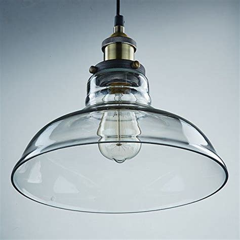 Industrial Kitchen Light Fixtures Les 174 Yobo Lighting Industrial Edison 1 Light Glass Shade Ceiling Pendant L Fixture Co