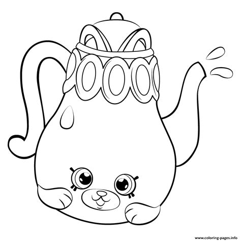 shopkins coloring pages of petkins print petkins tea pot from season 5 shopkins season 5