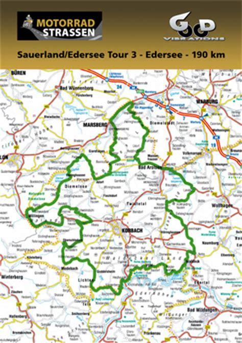Motorrad Gps Touren Sauerland by Sauerland Edersee Touren Motorradstrassen