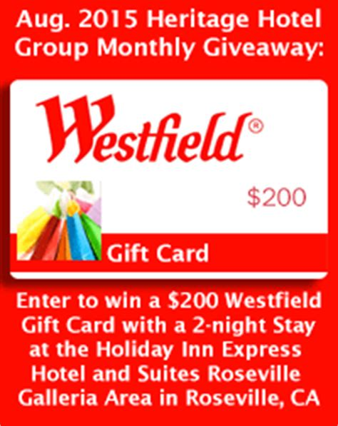 Westfield Mall Gift Card - august 2015 heritage hotel group blog