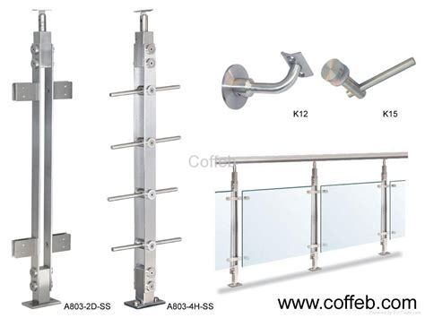 stainless steel l post stainless steel handrail and fittings a series coffeb
