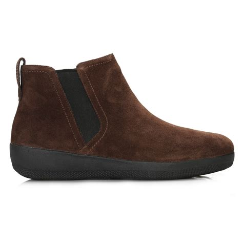 womans suede boots fitflop womens brown chelsea boots suede ankle shoes ebay