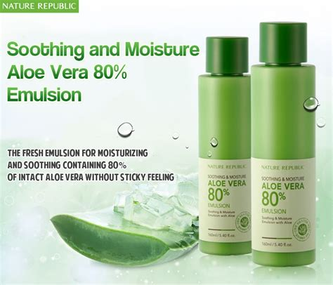 Nature Republic Soothing Emulsion nature republic soothing moisture aloe vera 80