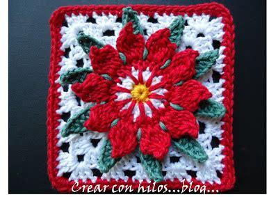 antel de noche buenas a crochet cactus flower granny free crochet pattern