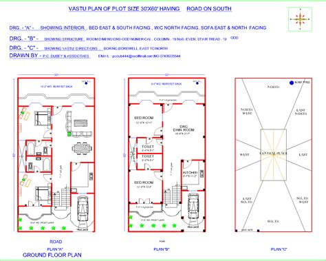 home design for 20x50 plot size vastu floor plan for south facing plot