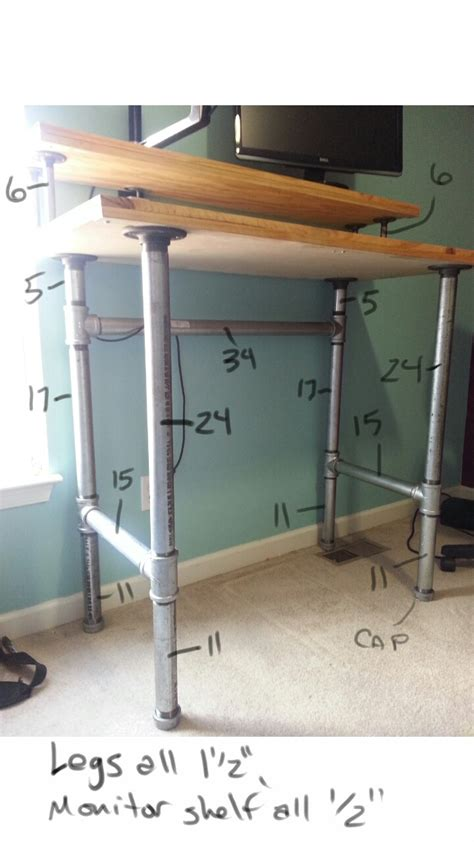 standing desk plans lowes pipe and plank standing desk plank pipes and desks
