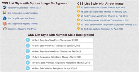css tutorial list 5 useful css list style tutorial and exle freshdesignweb