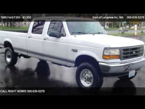 1998 ford f350 diesel for sale 1996 ford f350 crew cab box 4x4 for sale in