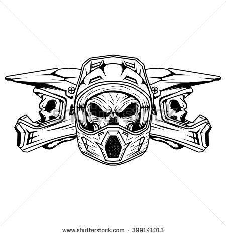 skull motocross helmet skull motocross and mountain bike helmet logo design