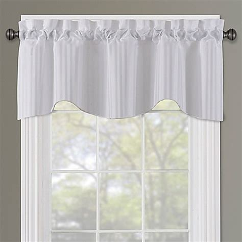 curtains sutton buy sutton rod pocket lined window valance in white from