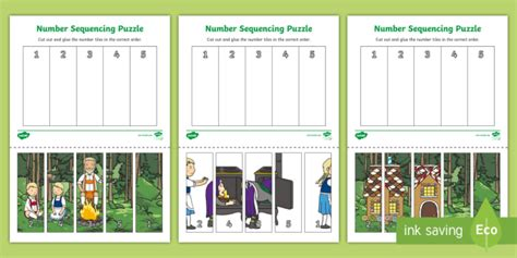 Hansel N Gretel Floor Puzzle hansel and gretel number sequencing puzzle sequencing