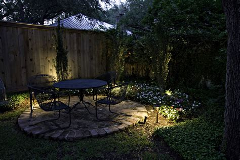 backyard lights less is more in seattle landscape lighting design