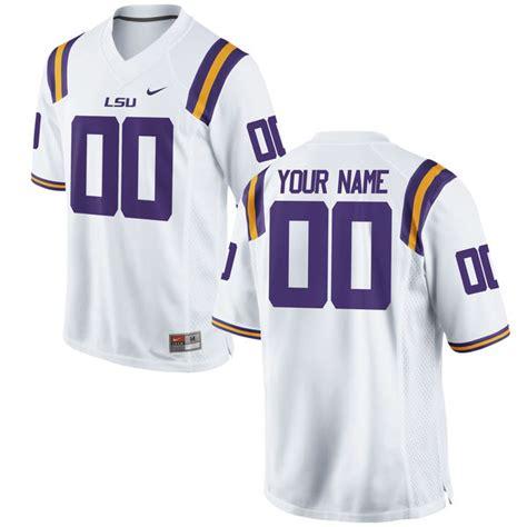 lsu tigers nike custom replica football jersey white