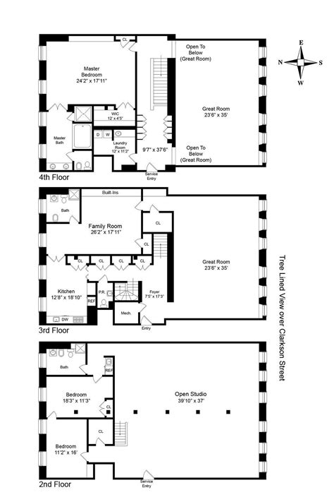Rv Garage Floor Plans by Two Sophisticated Luxury Apartments In Ny Includes Floor
