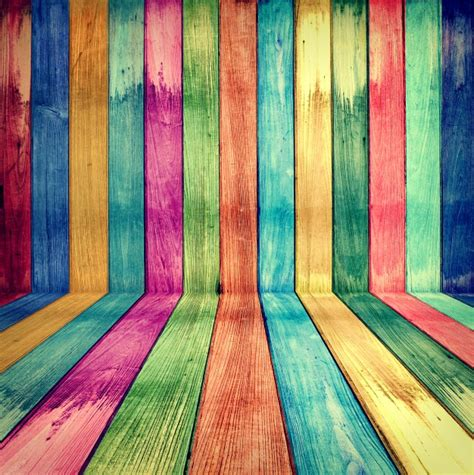 colorful picture creative wooden room concept colorful retro photo