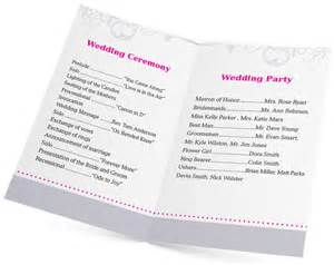 5 design ideas for wedding program printing