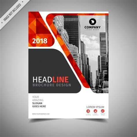 and orange business brochure design vector free