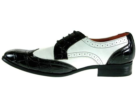 white wingtip oxford shoes mens ferro aldo black white spectators wingtip oxford