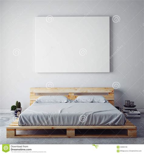Free Bedroom Posters Mock Up Blank Poster On The Wall Of Bedroom Stock