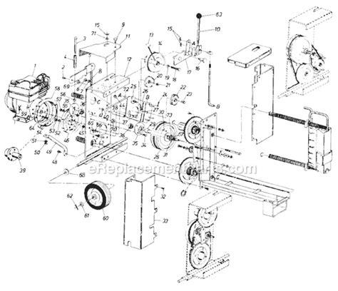 huskee log splitter parts diagram mtd 245 635 000 parts list and diagram 1985