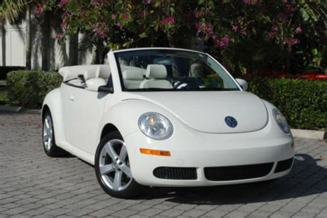 how petrol cars work 2007 volkswagen new beetle interior lighting find used 2007 volkswagen triple white new beetle convertible 2 5l 6 speed automatic in fort