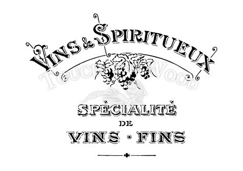 shabby chic stencil vintage french vins advert touch