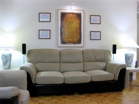 speaker couch eigesan s home theater gallery first home theater 36