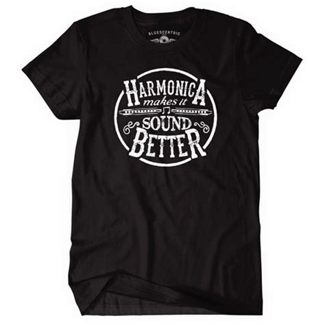 Kaos Tshirt Black Panther harmonica makes it sound better t shirt bluescentric