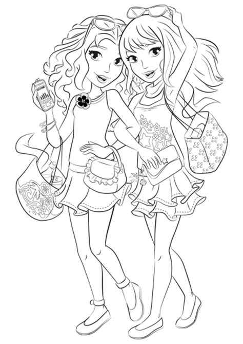 coloring page lego friends lego friends coloring pages to download and print for free
