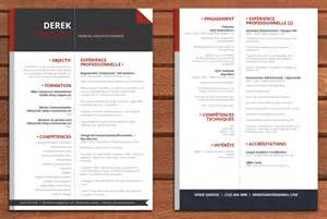 2 page resume sles exemple cv en 2 pages cv anonyme