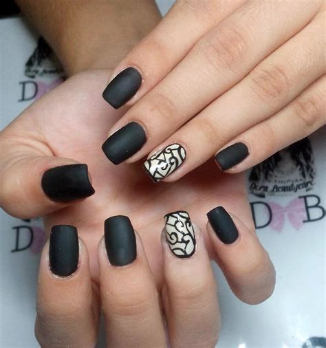 Black Nail by 29 Black Acrylic Nail Designs Ideas Design Trends