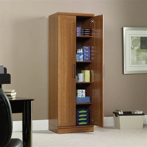 sauder kitchen cabinets sauder homeplus storage cabinet sienna oak finish pantry